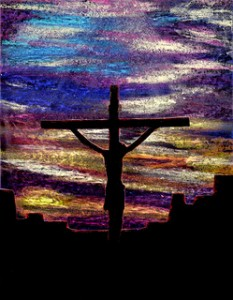 Jesus on cross art